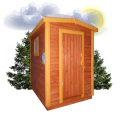 Хозблок 1.5x2м, Душ + туалет